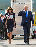 President Trump & First Lady Melania, Stansted