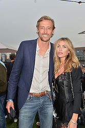 PETER CROUCH and ABBEY CLANCY at the Warner Music Group & GQ Summer Drinks hosted in asociation with Quintessentially at Shoreditch House, Ebor Street, London on 6th July 2016.