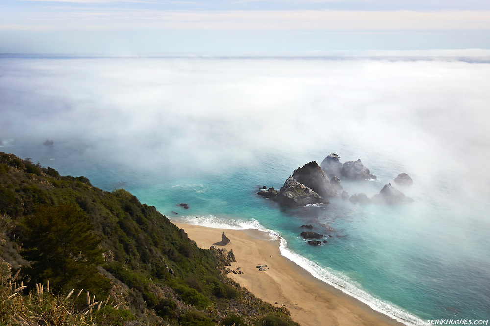 A view from the Pacific Coast Highway at Julia Pfeiffer Burns State Park in Big Sur, California.
