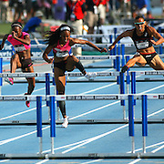 ROLLINS - 13USA, Des Moines, Ia.  - Brianna Rollins starts to pull away in the 100 hurdles win.  Photo by David Peterson