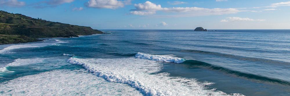 Surfing, Southeast Shoreline, Molokai, Hawaii