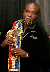 WBA/WBC/Ring Magazine Cruiserweight Champ Jean-Marc Mormeck at the presser announcing his upcoming fight.  Mormeck will meet O'Neill Bell at the Theater at Madison Square Garden on January 7, 2005.