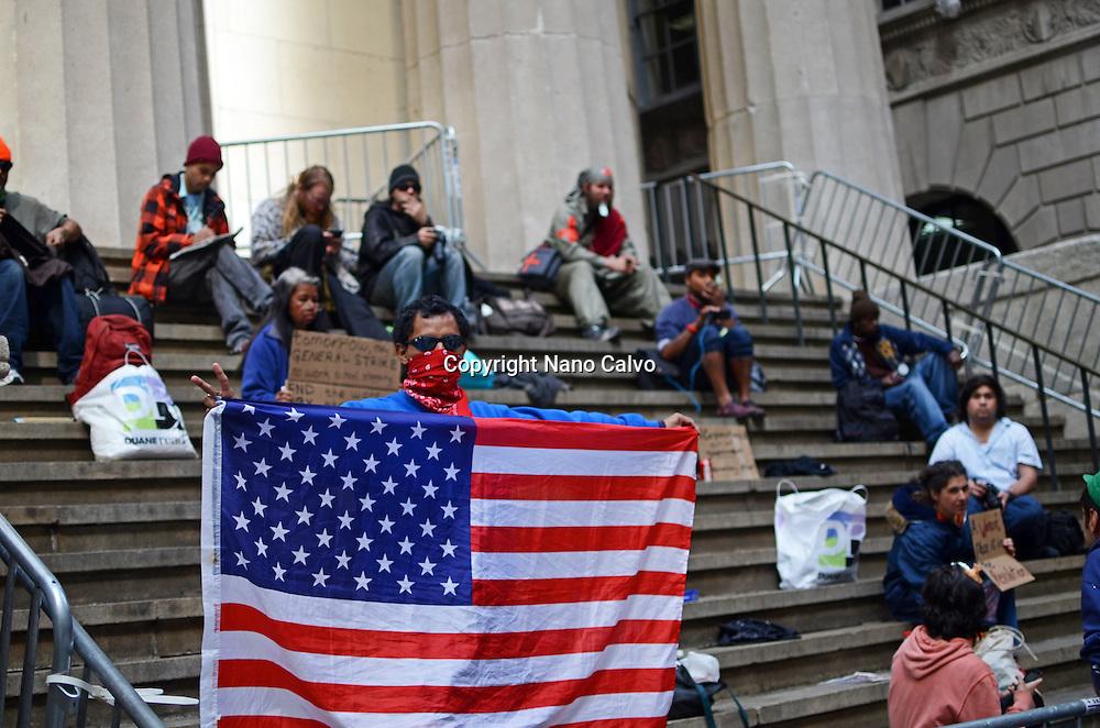 Occupy Wall Street protestors, New York City