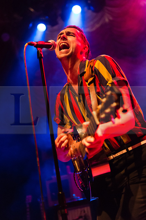"""© Licensed to London News Pictures. 24/11/2014. London, UK.   The Caezars performing live at Shepherds Bush Empire, supporting headliner Imelda May.   The Caezards consists of members Mister AJ Denning, Danny """"O"""", Thee Jim Wray, Sir Mikey Crowley.    Photo credit : Richard Isaac/LNP"""