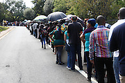 Thousands of mourners queue for hours to pay final respects to Nelson Mandela. Mandela is lying in state in an open casket in the Union buildings in Pretoria, South Africa<br />