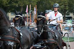 Edouard Simonet, (BEL), Dark Dream, Maximus, Topspeed Bauke, Topspeed Sanne, YK Topspeed Long Beach - Driving Marathon - Alltech FEI World Equestrian Games™ 2014 - Normandy, France.<br /> © Hippo Foto Team - Becky Stroud<br /> 06/09/2014