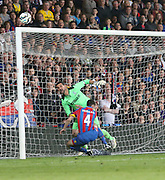 Julian Speroni and Simon Morgan combine to save Juan Sara's lob - Crystal Palace v Dundee - Julian Speroni testimonial match at Selhurst Park<br /> <br />  - © David Young - www.davidyoungphoto.co.uk - email: davidyoungphoto@gmail.com