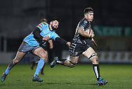 Morgan Sieniawski of Pontypridd<br /> <br /> Photographer Mike Jones/Replay Images<br /> <br /> Principality Premiership - Neath v Pontypridd - Friday 16th March 2018 - The Gnoll Neath<br /> <br /> World Copyright © Replay Images . All rights reserved. info@replayimages.co.uk - http://replayimages.co.uk