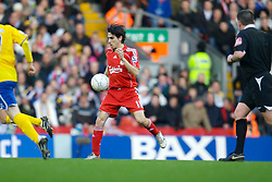 LIVERPOOL, ENGLAND - Saturday, January 26, 2008: Liverpool's Yossi Benayoun in action against Havant and Waterlooville during the FA Cup 4th Round match at Anfield. (Photo by David Rawcliffe/Propaganda)