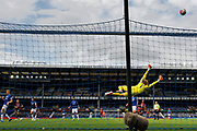 Bournemouth midfielder Harry Wilson (22) shot goes high as Bournemouth go for more goals during the Premier League match between Everton and Bournemouth at Goodison Park, Liverpool, England on 26 July 2020.