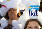 """Maddy Manganello, front, and her mother Lynda traveled with their family from their home in New Hampshire to Somerville on Sept. 26, for the town's fourth annual """"What the Fluff"""" Festival. The festival was held in honor of the invention of Fluff in Union Square in 1917. ..Photo by Stephanie Zollshan"""