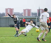Dundee&rsquo;s Paul McGowan fires in a shot - Dumbarton v Dundee, William Hill Scottish Cup fifth round at The Cheaper Insurance Direct Stadium <br /> <br />  - &copy; David Young - www.davidyoungphoto.co.uk - email: davidyoungphoto@gmail.com