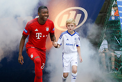 11.07.2015, Alianz Arena, Muenchen, GER, 1. FBL, FC Bayern Muenchen, Teampräsentation, im Bild David Alaba #27 (FC Bayern Muenchen) kommt in die Arena // during the Teampresentation of German Bundesliga Club FC Bayern Munich at the Alianz Arena in Muenchen, Germany on 2015/07/11. EXPA Pictures © 2015, PhotoCredit: EXPA/ Eibner-Pressefoto/ Kolbert<br /> <br /> *****ATTENTION - OUT of GER*****