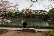 Tokyo, Chiyoda ku - Les douve du palais impérial.