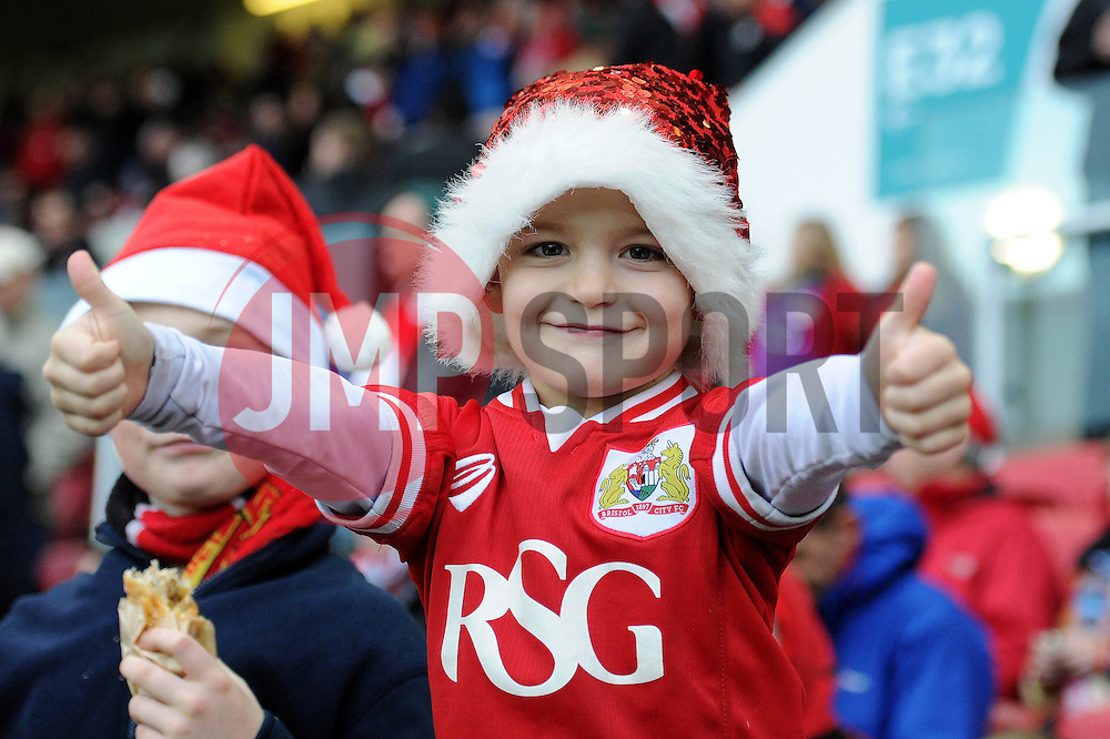Bristol City fan - Mandatory byline: Dougie Allward/JMP - 07966 386802 - 19/12/2015 - FOOTBALL - Ashton Gate - Bristol, England - Bristol City v QPR - Sky Bet Championship