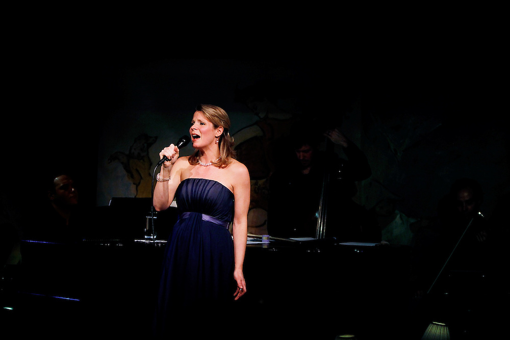 Singer Kelli O'Hara performs at Cafe Carlyle on April 1,  2009 in New York City. photo by Joe Kohen for The New York Times