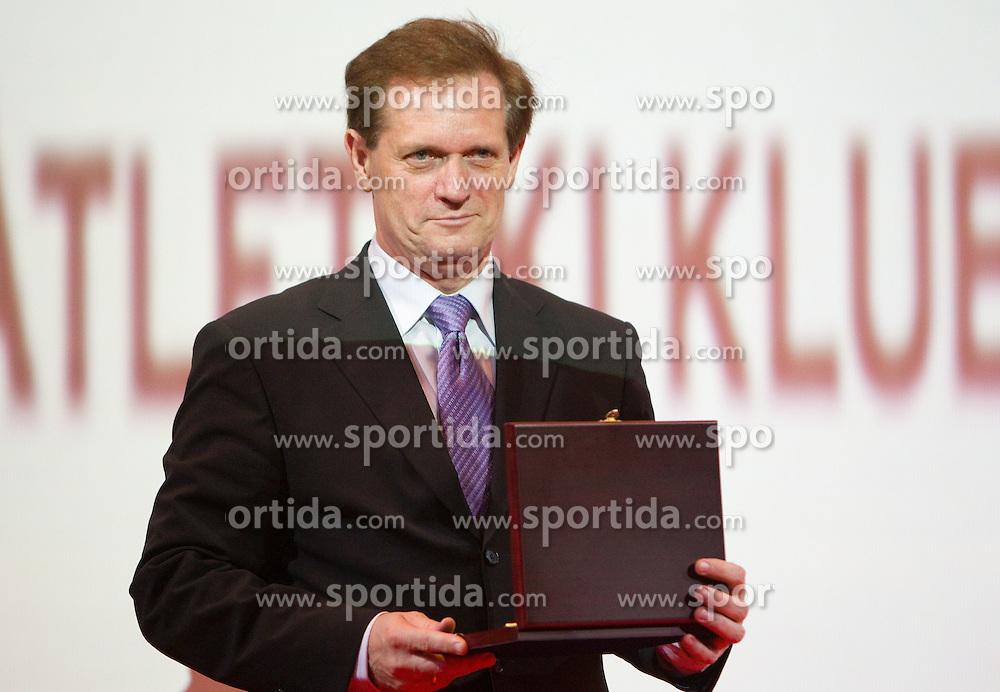 Boris Dular during the Slovenia's Athlete of the year award ceremony by Slovenian Athletics Federation AZS, on November 12, 2008 in Hotel Mons, Ljubljana, Slovenia.(Photo By Vid Ponikvar / Sportida.com) , on November 12, 2010.