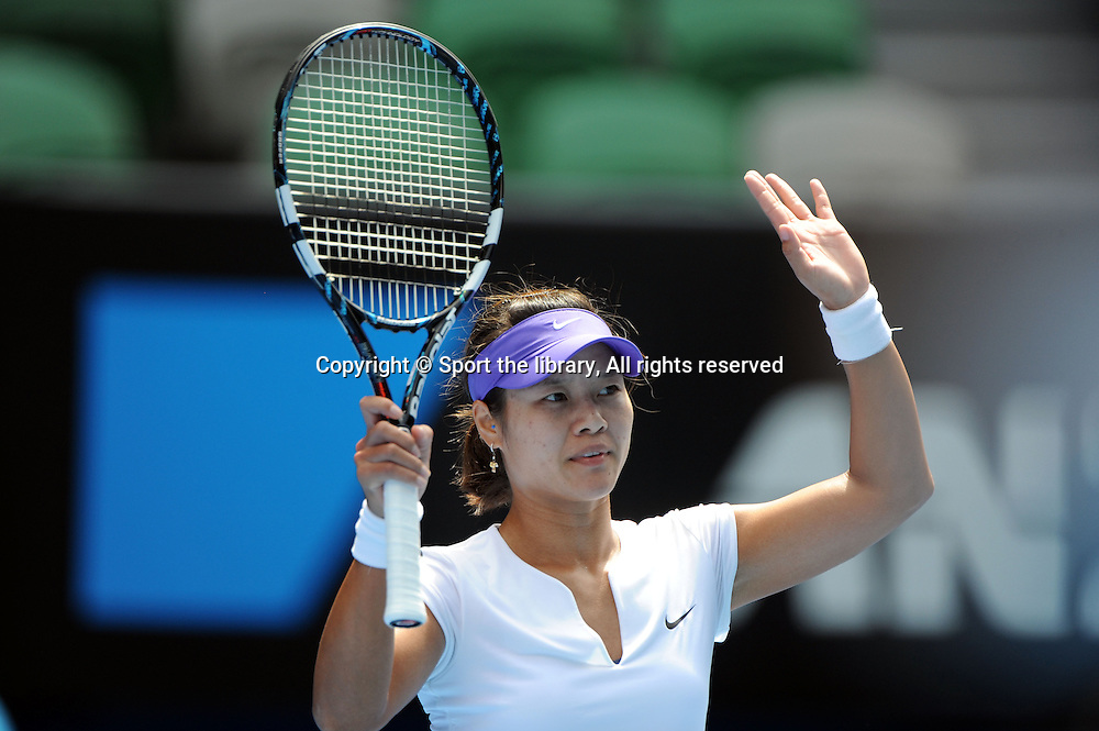Li Na (CHN)<br /> 2012 Australian Open Tennis<br /> Melbourne, Victoria<br /> Wednesday January 18th 2012<br /> &copy; Sport the library / Jeff Crow