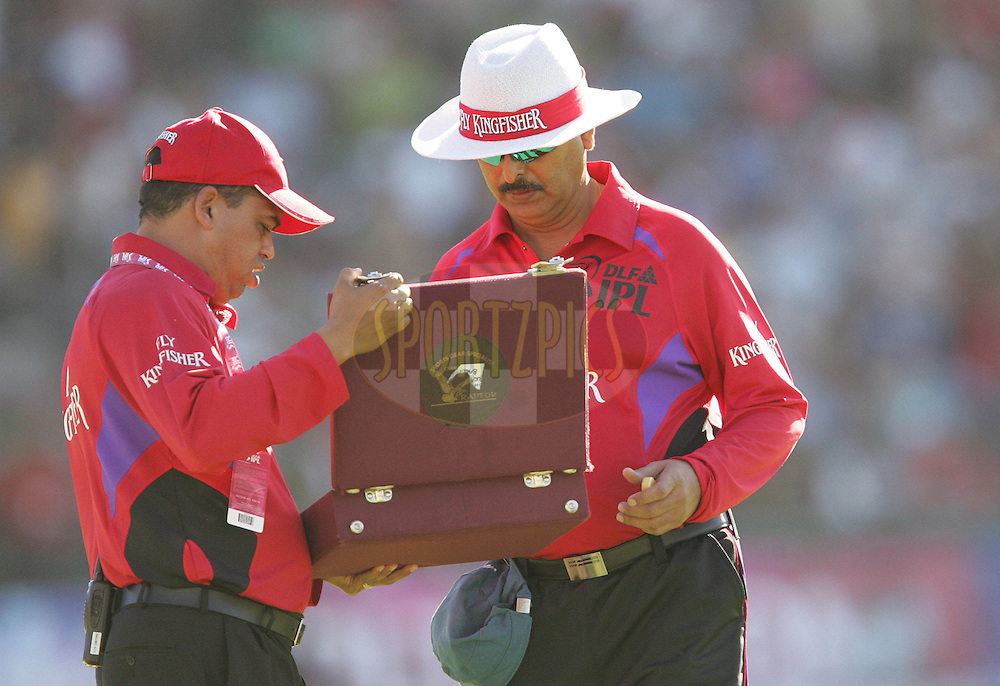 PORT ELIZABETH, SOUTH AFRICA - 02 May 2009. A new ball is needed after Shane Warne knocked the original one out of the park during the  IPL Season 2 match between the Deccan Chargers and the Rajatshan Royals held at St Georges Park in Port Elizabeth , South Africa..