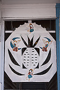 Decorative detail on a house in Key West, Florida