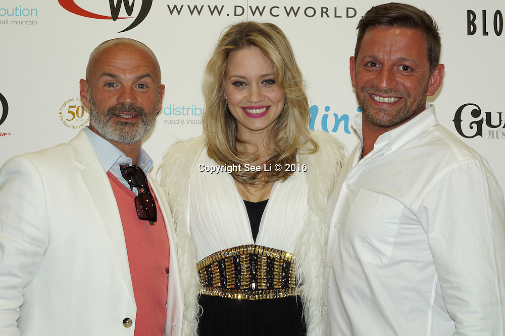 London,England,UK : 28th April 2016 : Julian Bennett,Kimberly Wyatt attend the Kimberly Wyatt launches the 2016 annual BLOCH Dance World Cup at BLOCH, 35 Drury Lane, Covent Garden, London. Photo by See Li