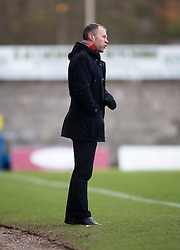 Stirling Albion manager Stuart McLaren. <br /> East Fife 1 v 0 Stirling Albion, Scottish Football League Division Two game played atBayview Stadium, 20/2/2106.