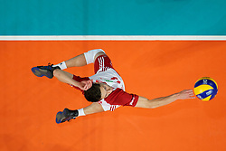 23-09-2019 NED: EC Volleyball 2019 Poland - Germany, Apeldoorn<br /> 1/4 final EC Volleyball Poland win 3-0 / Aleksander Sliwka #14 of Poland