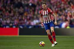 February 9, 2019 - Madrid, Madrid, Spain - Saul Niguez of Atletico Madrid during the week 23 of La Liga between Atletico Madrid and Real Madrid at Wanda Metropolitano stadium on February 09 2019, in Madrid, Spain. (Credit Image: © Jose Breton/NurPhoto via ZUMA Press)
