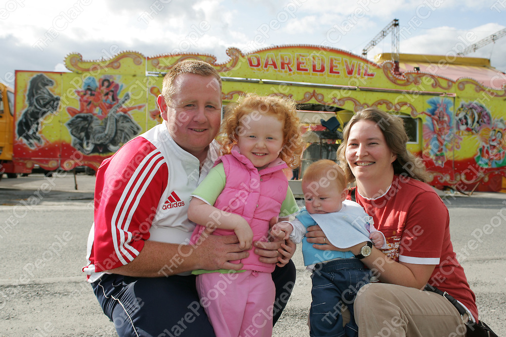 Pictured at the Russian Circus in Ennis Co.Clare were:<br /> Michael,Johanna, Cian and Nora Fogarty.<br /> Pic.Brian Gavin/Press 22