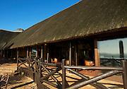 Safari Lodge at the Hluhluwe Umfolozi game reserve.  Northern KwaZulu Natal, South Africa