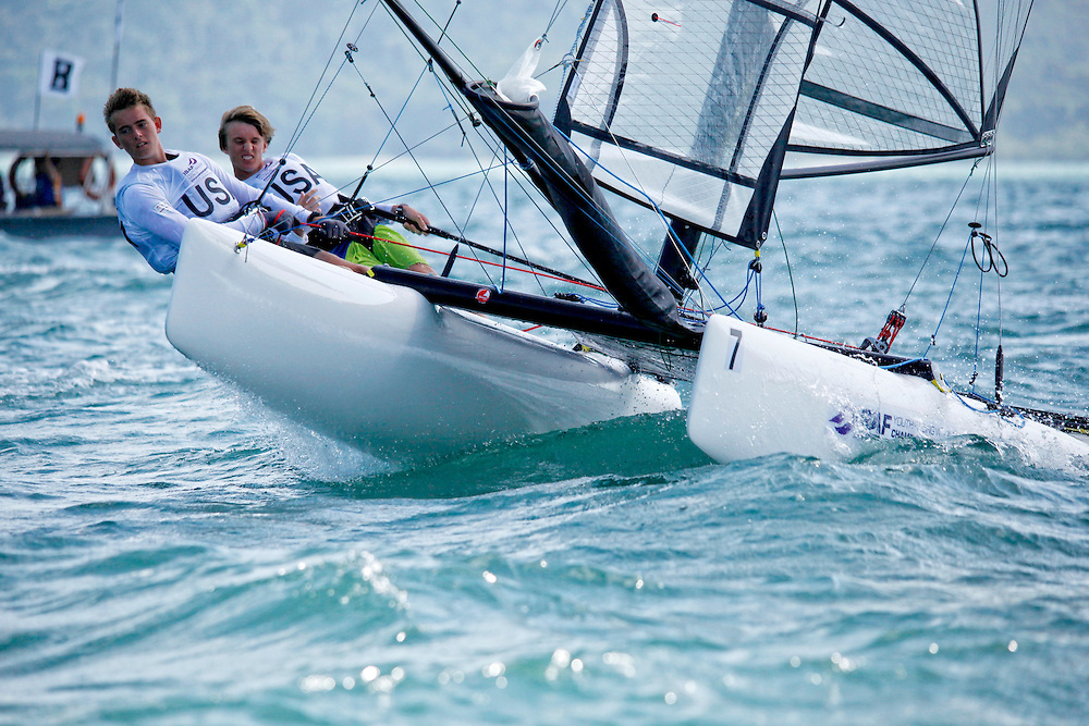 United StatesSirena SL16OpenCrewUSAAB167AndersonBrunsvold<br />United StatesSirena SL16OpenHelmUSAMB201Mark Brunsvold<br />Day4, 2015 Youth Sailing World Championships,<br />Langkawi, Malaysia