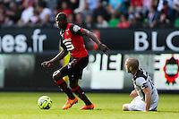 Abdoulaye DOUCOURE / Lionel MATHIS - 12.04.2015 - Rennes / Guingamp - 32eme journee de Ligue 1 <br /> Photo : Vincent Michel / Icon Sport