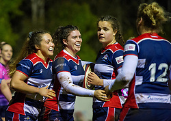 Phoebe Murray of Bristol Ladies celebrates with team mates - Mandatory by-line: Paul Knight/JMP - 24/03/2018 - RUGBY - Cleve RFC - Bristol, England - Bristol Ladies v DMP Sharks - Tyrrells Premier 15s