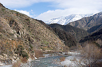 Mount Baldy and East Fork of the San Gabriel River After Winter Snow Storm, Angeles National Forest, California