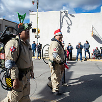 Ghostbusters walk in the Christmas parade downtown, Saturday Nov. 1 in Gallup as part of the Red Rock Balloon Rally this weekend.