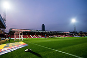 general shot of the stadium  during the EFL Sky Bet Championship match between Brentford and Derby County at Griffin Park, London, England on 26 September 2017. Photo by Sebastian Frej.