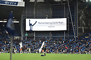 West Bromwich Albion remember Cyrille Regis on the anniversery of his death during the EFL Sky Bet Championship match between West Bromwich Albion and Norwich City at The Hawthorns, West Bromwich, England on 12 January 2019.