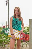 Girls who Skate - Rio<br /> Street portraits of girls who skateboard at Ipanema Beach.