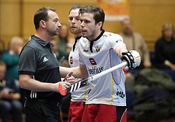 BERLIN - Indoor Hockey World Cup<br /> South Africa - Belgium<br /> foto: Umpire Lee Barron  <br /> WORLDSPORTPICS COPYRIGHT FRANK UIJLENBROEK
