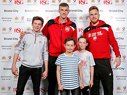 Aiden Flint and Alex Pearce of Bristol City pose during the Player Sponsors' Evening in the Sports Bar & Grill at Ashton Gate - Mandatory byline: Rogan Thomson/JMP - 11/04/2016 - FOOTBALL - Ashton Gate Stadium - Bristol, England - Bristol City Player Sponsors' Evening.