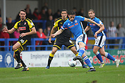 Ian Henderson shoots during the EFL Sky Bet League 1 match between Rochdale and Rotherham United at Spotland, Rochdale, England on 7 October 2017. Photo by Daniel Youngs.