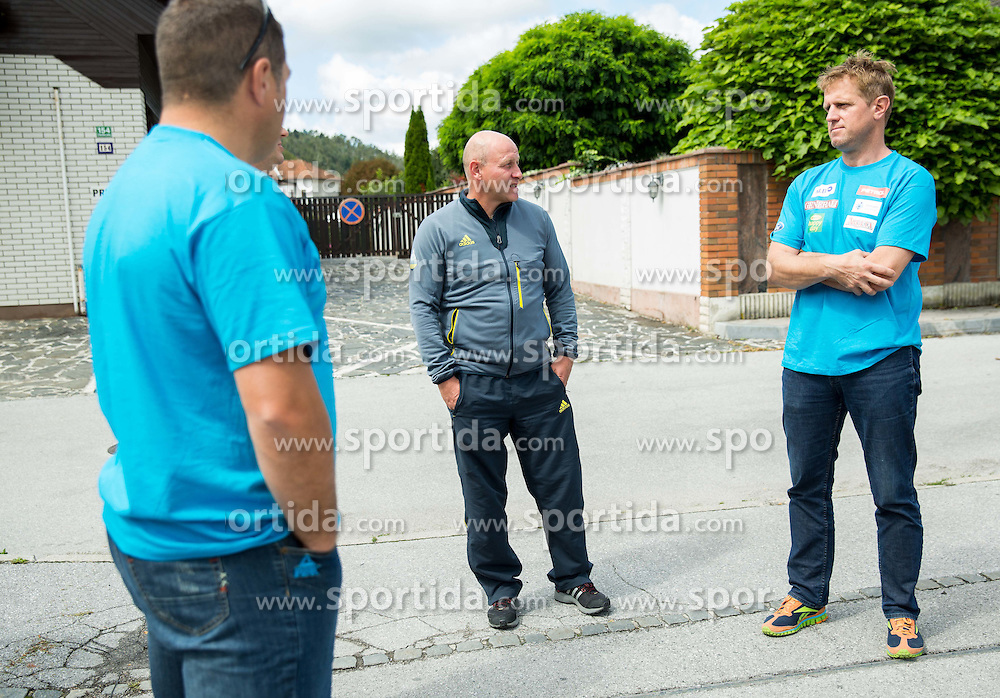 Goran Janus and Klemen Bergant at departure of Slovenian Men Ski Team to training camp in Argentina and Chile on August 21, 2014 in SZS, Ljubljana, Slovenia. Photo by Vid Ponikvar / Sportida.com
