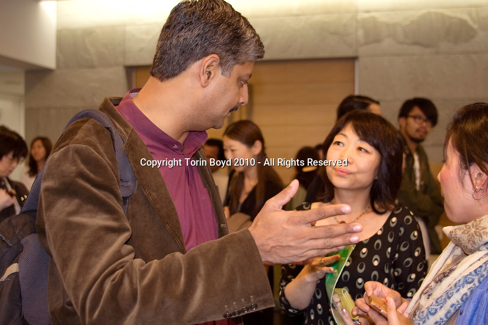 Vibek Menon and Kumi Togawa during JTEF event at the Indian Embass Tokyo: <br /> <br /> <br /> This was an Japan Tiger and Elephant Fund (JTEF) held at the Indian embassy in Tokyo on September 25, 2010. This was to bring awareness to their causes; the Tiger Conservation Fund, Elephant Conservation Fund, Iriomote Cat Conservation Fund, and stopping the ivory trade. Those who spoke or performed at this event were: Vibek Menon, Chief Executive Officer of Wildlife Trust of India, Kumi Togawa, a well-known animal novelist, Mieko Kinjo, and sitar player Chandrakant Saradeshmukh, and the theatrical group Theatre de MUIBO.
