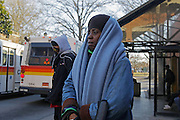 Bitter Cold Weather Moves Across US<br /> <br /> Ann Simmons bundles up as she waits for a bus at Moore Square Station in Raleigh, N.C., Tuesday, Jan. 7, 2014.<br /> ©exclusivepix