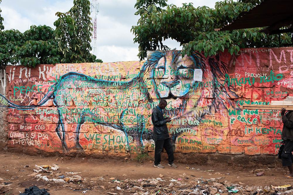 A painted wall in Kibera slum, Kenya. Photo by Ronald Calcano.