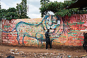 A painted wall in Kibera slum, Kenya. Photo by Ronald Calcano.