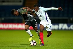 Edward Nketiah of England takes on Alfons Amade of Germany Under 19s - Mandatory by-line: Robbie Stephenson/JMP - 05/09/2017 - FOOTBALL - One Call Stadium - Mansfield, United Kingdom - England U19 v Germany U19 - International Friendly