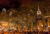 Bryant Park, 42nd Street, New York, New York USA.