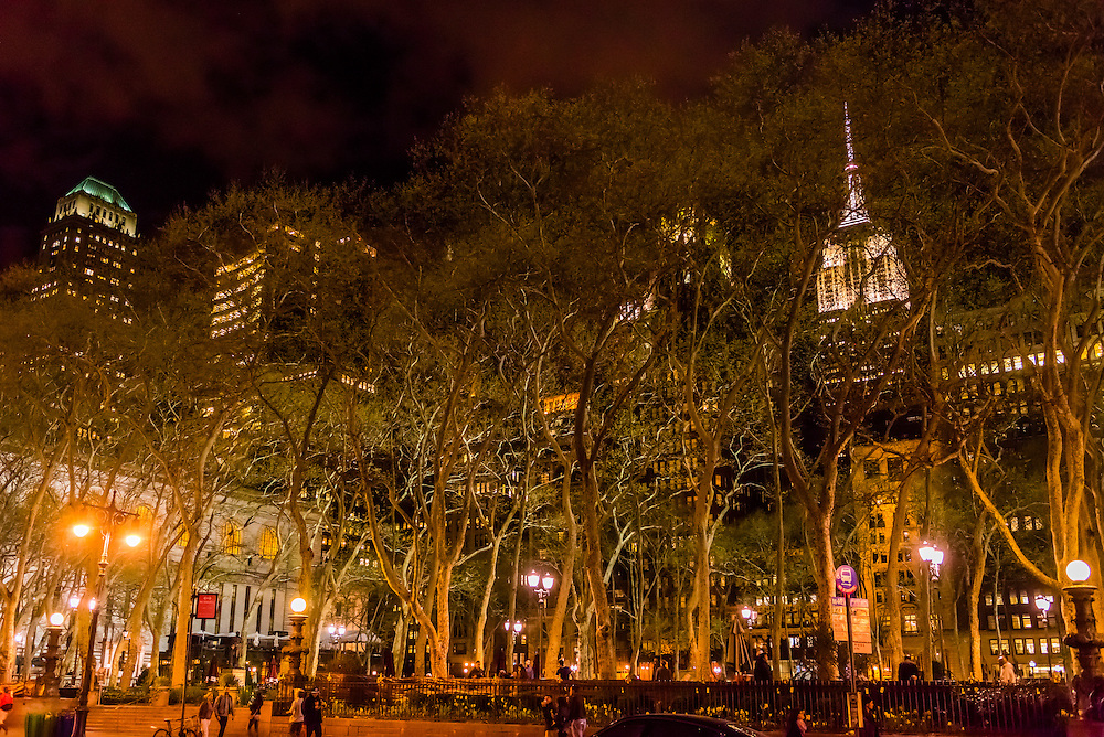 Bryant Park, 42nd Street, New York, New York USA.