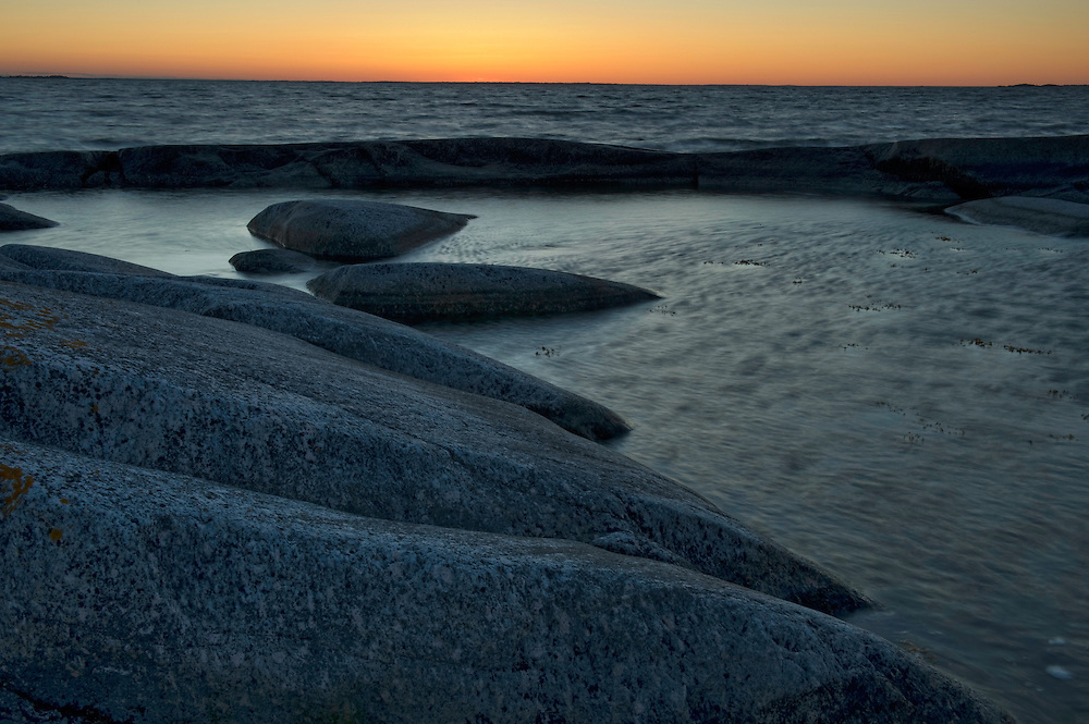 Coastal landscape in Kallsk&auml;r at sunset.<br /> Stockholm Archipelago, Sweden